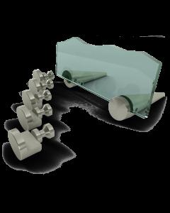 Edelstahl-Tischaufsteller Innsbruck 4 - für 4 mm Schilder